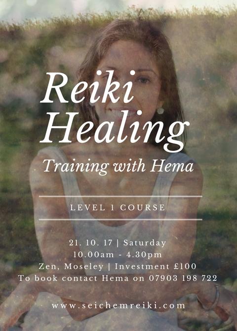 Reiki Level 1 October 2017 Birmingham Flyer