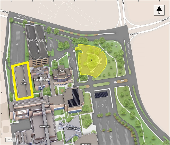 Map of Alternate Learning and Teaching Center & Public Parking