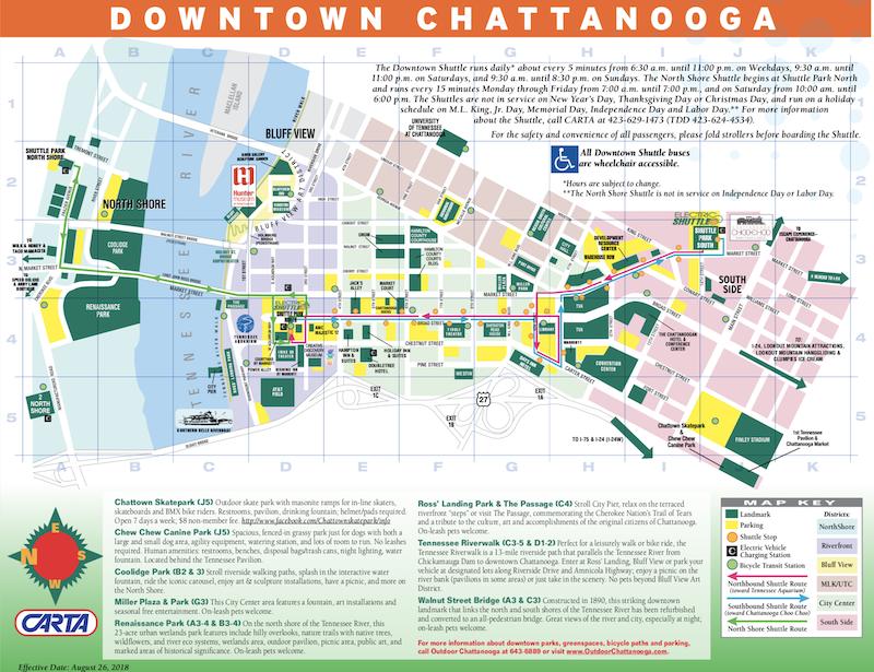 Downtown shuttle map
