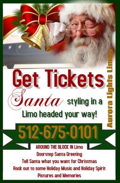 Santa Visits in a Limo