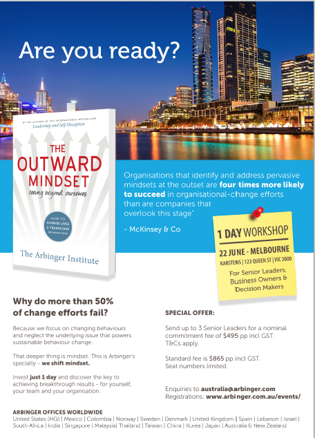 outward mindset in Melbourne 22 June 2017