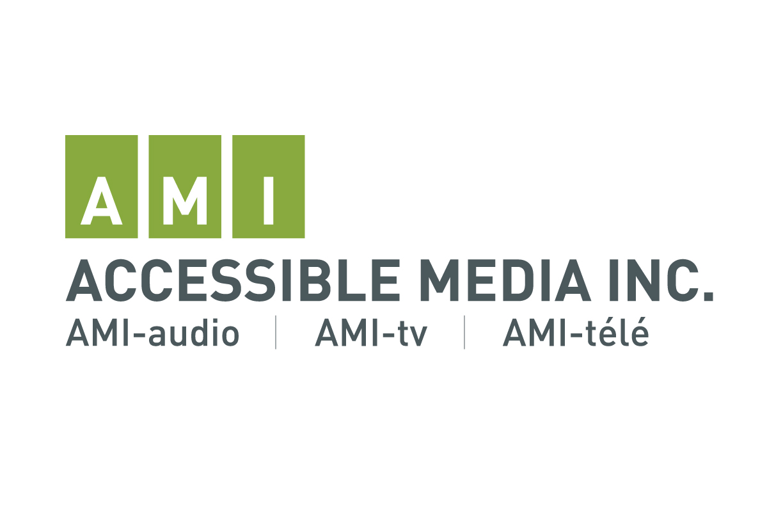 Image: AMI Logo (Accessible Media Inc. AMI-audio | AMI-tv | AMI- télé)