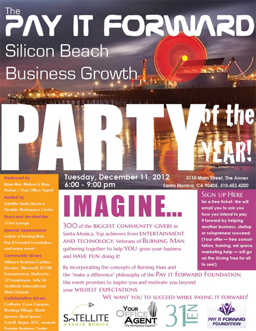 Business Growth Network Pay It Forward Silicon Beach Party