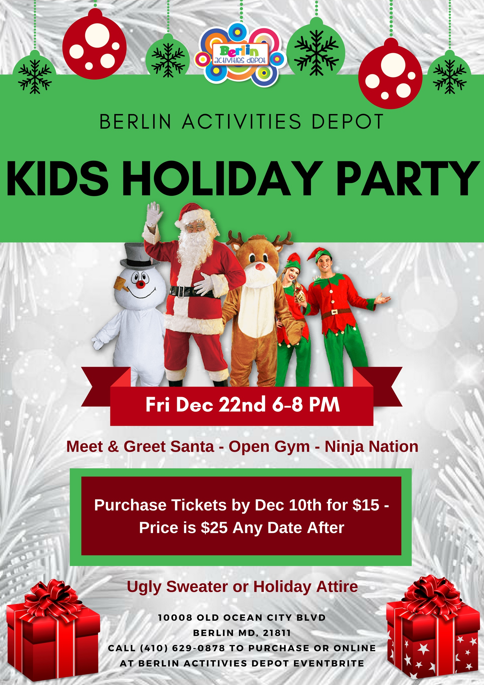 Kids Holiday Party Flyer