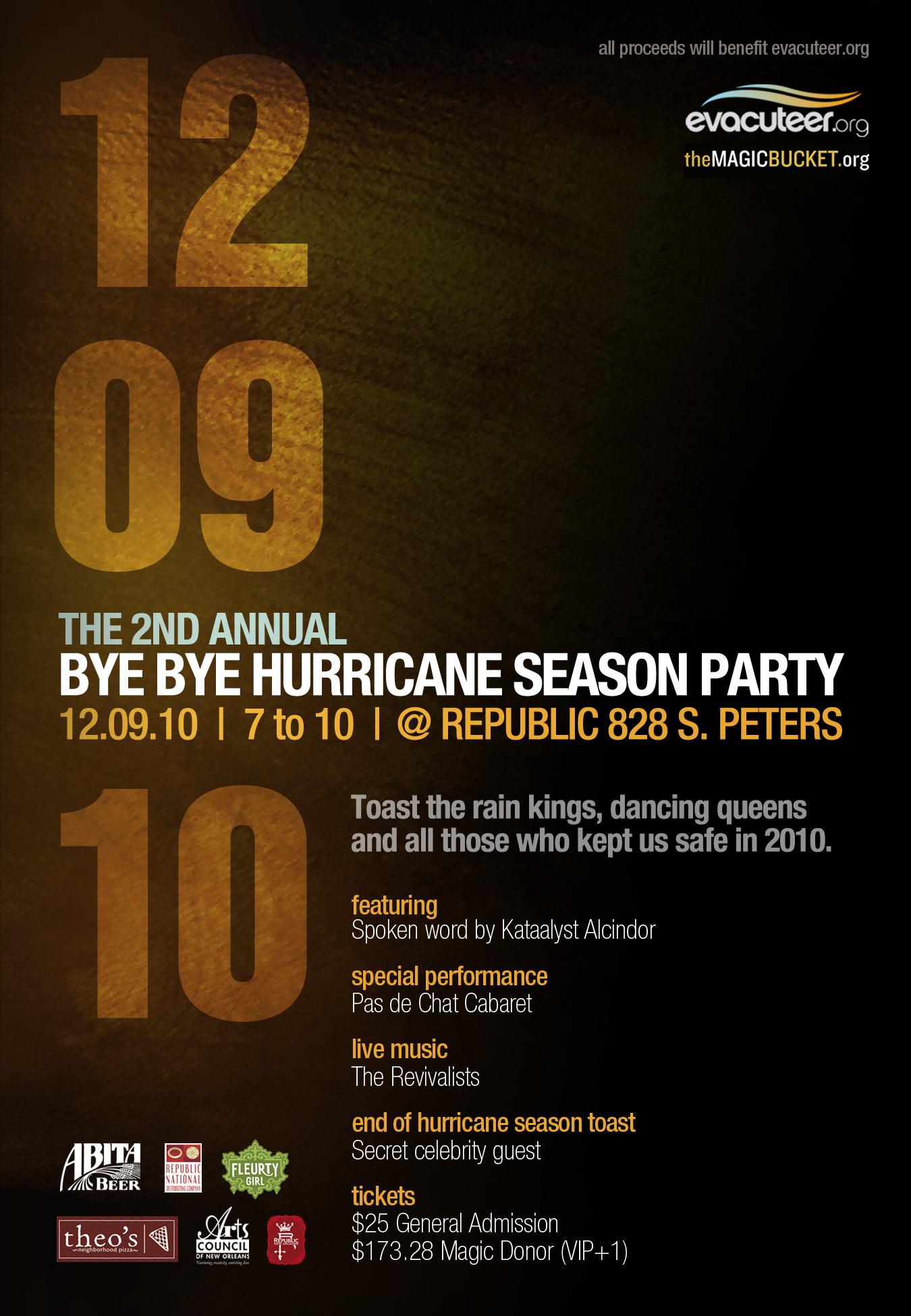 12/9/2010 Bye Bye Hurricane Season Party