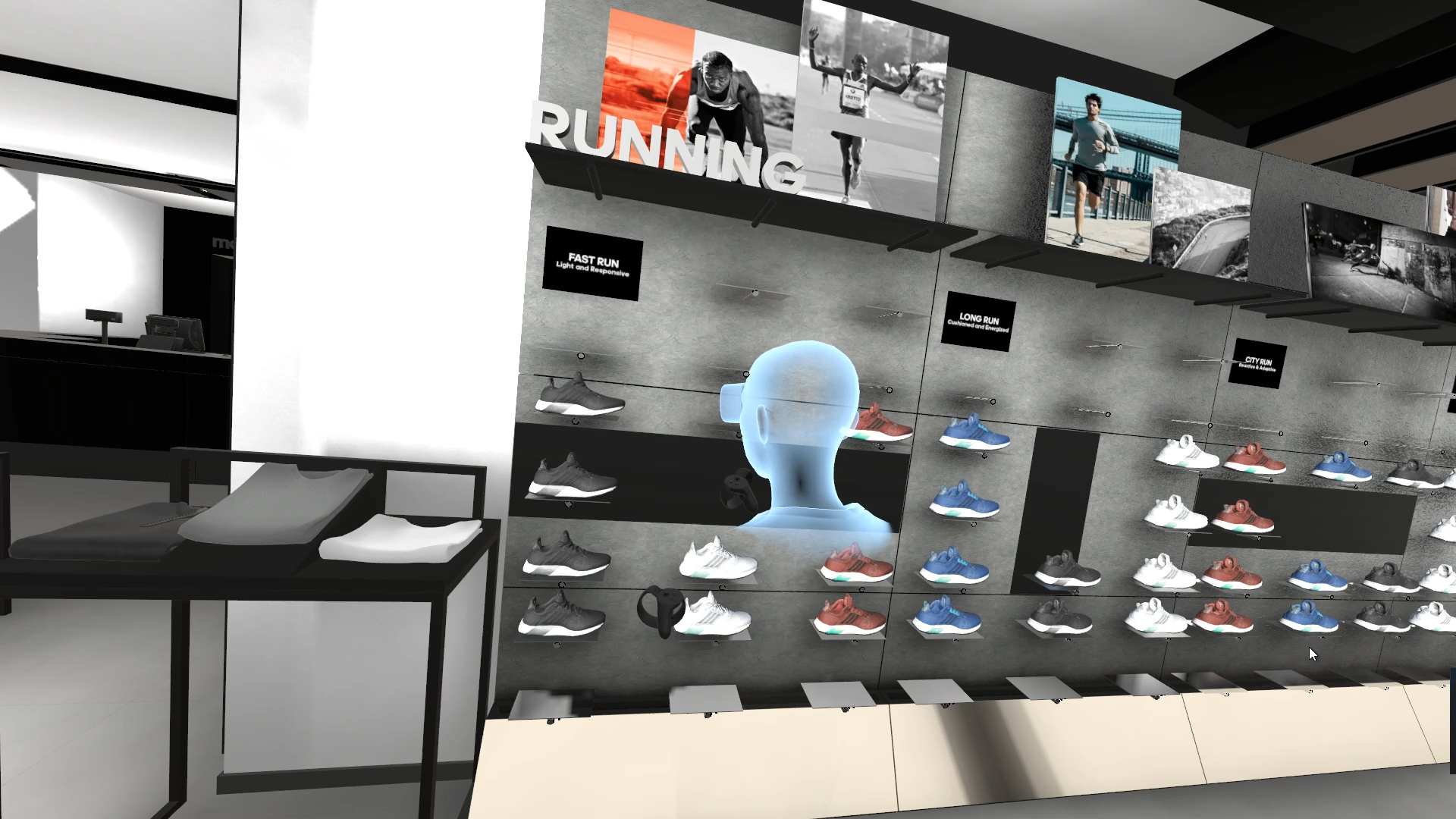 Virtual Shoe Wall