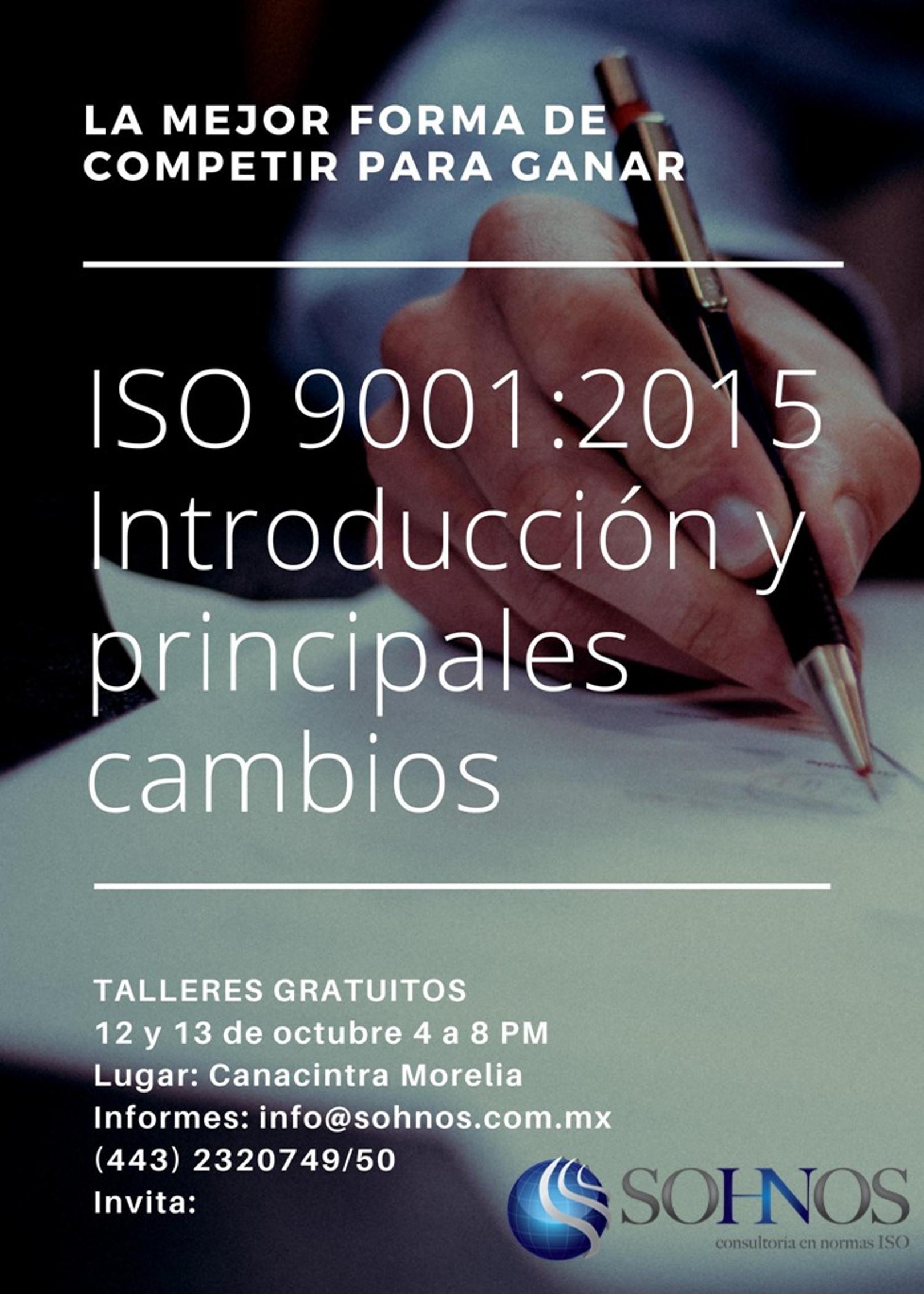 Capacitación en ISO 9001:2015