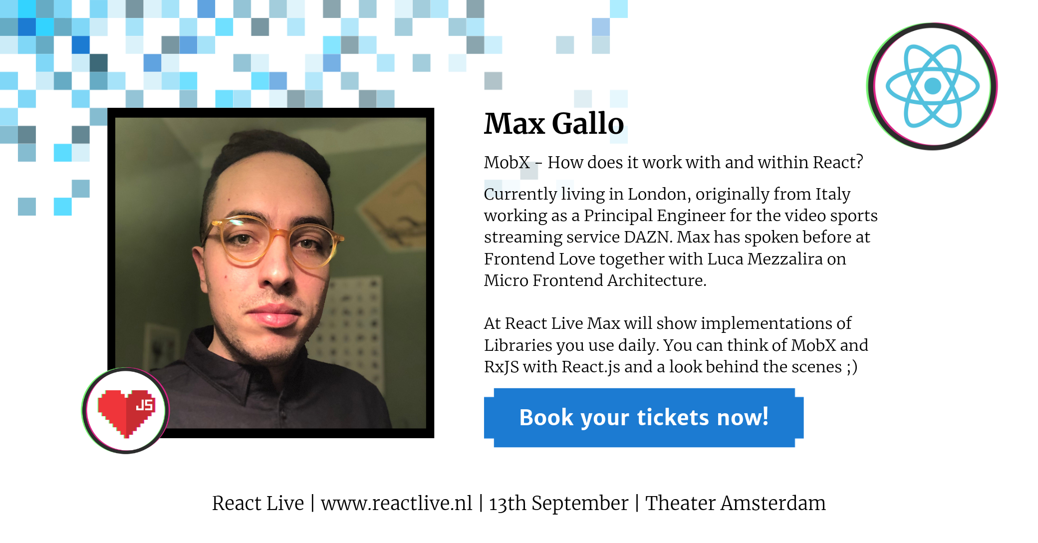 Max Gallo DAZN at React Live