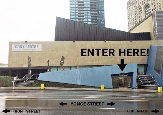 Sony Centre Yonge Street Entrance
