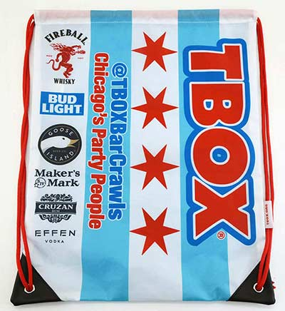 Chicago Flag TBOX Gym Bag
