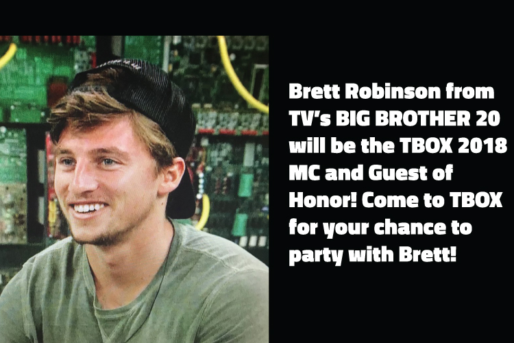 Brett Robinson of Big Brother 20 TV Show will be at TBOX2018 Bar Crawl TBOX 12 Bars of Xmas Wrigleyville