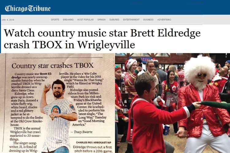 TBOX Brett Eldredge Comes Dresses as Disco Santa 12 Bars of Xmas