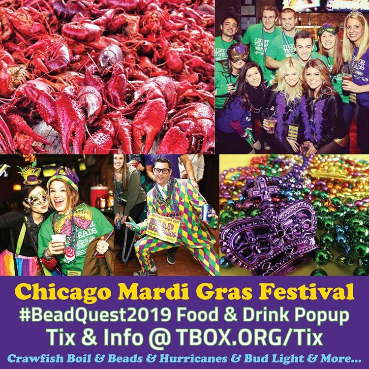 Chicago Mardi Gras Bar Crawl, Wrigleyville Pub Crawl