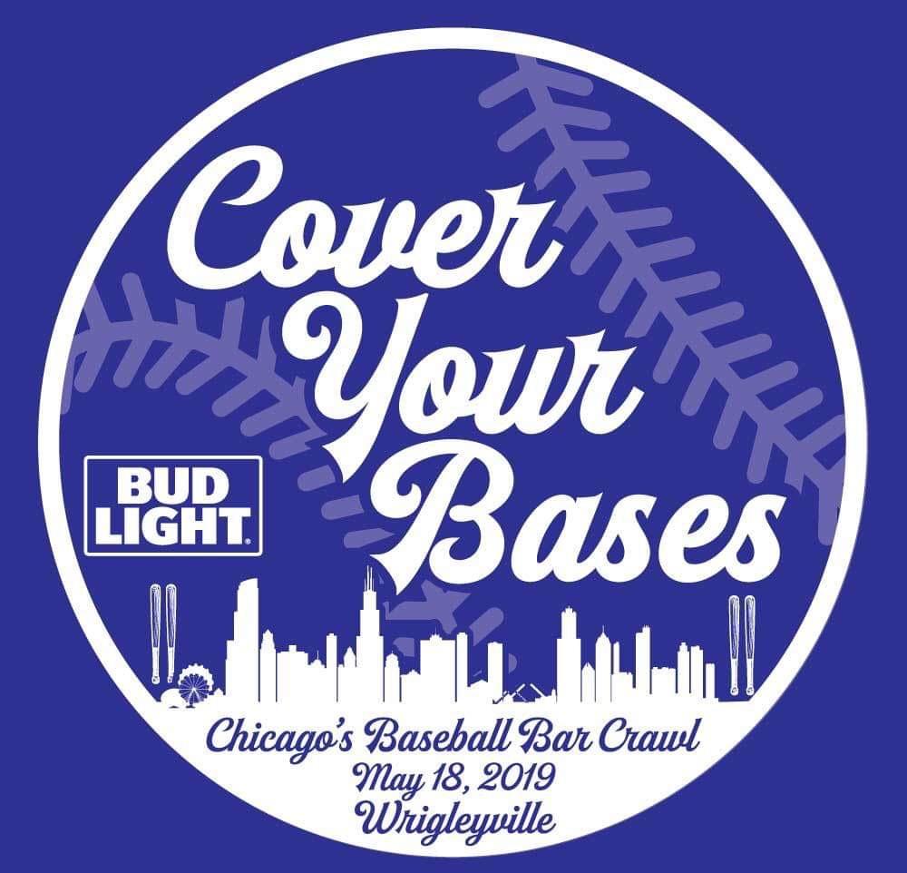 Cover Your Bases Bar Crawl T-Shirt, Chicago Baseball Bar Crawl, TBOX, Wrigleyville Bar Crawl