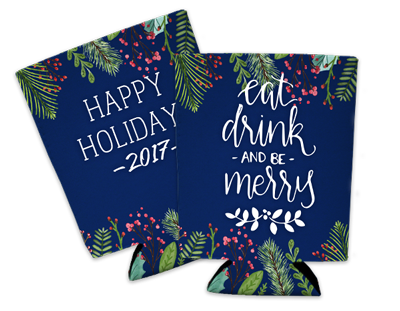 Happy-Holidays-Coozie - Coastal Business Supplies
