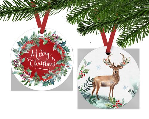Coastal Business Supplies - Round Christmas Ornament