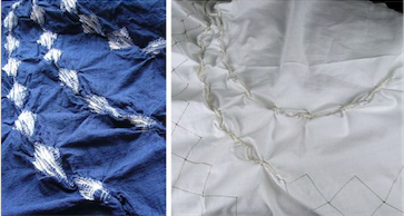 Process of stitching and untying