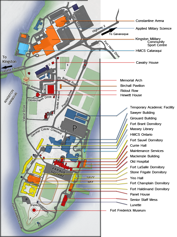 Map of RMC Campus