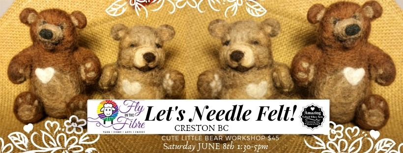 Needle Felting Cute Little Bear