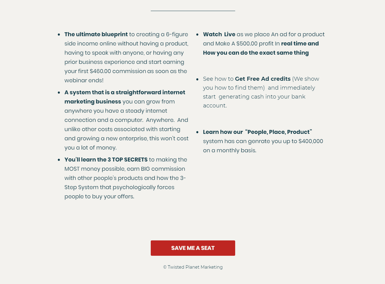 Create A 6 Figure Online Business From Scratch-Philadelphia Webinar