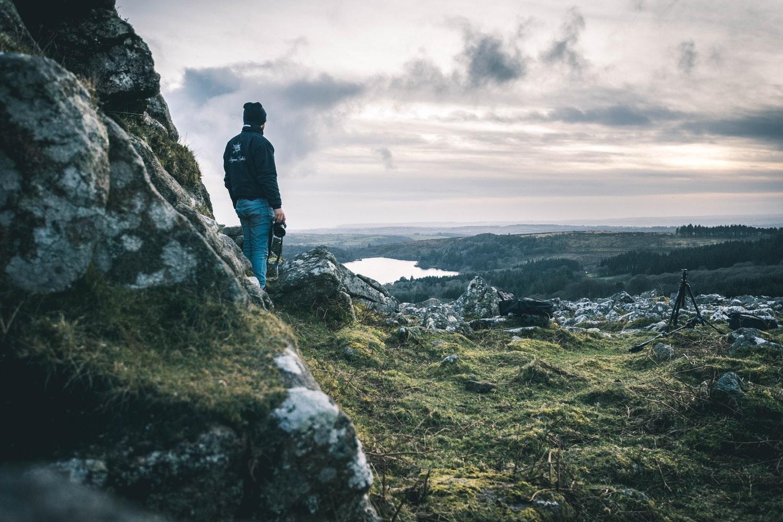 Man alone in dartmoor