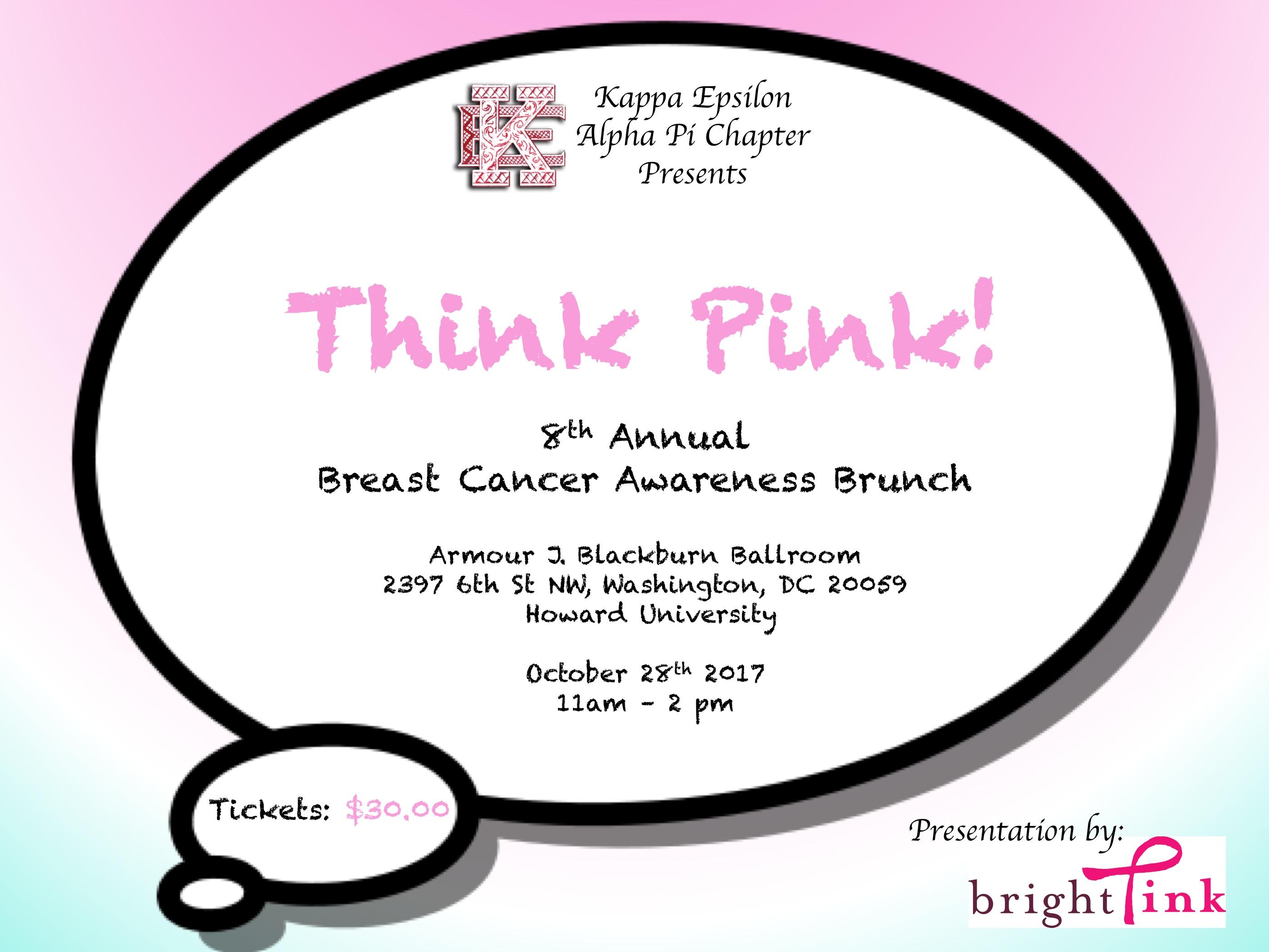 Breast Cancer Brunch Flyer