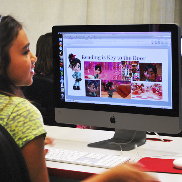 Students use computers daily to compose and publish their work.