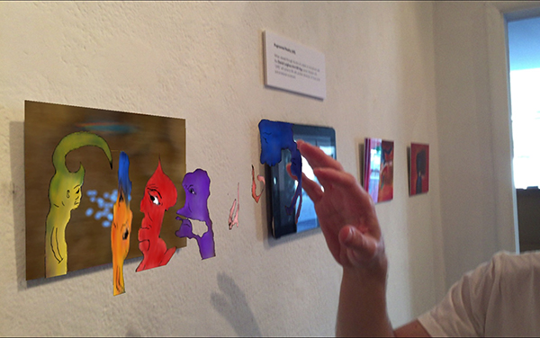 Augmented Reality paintings Just One Moment