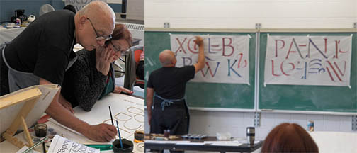 Photos of Paul teaching for the Calligraphy Society of Ottawa.