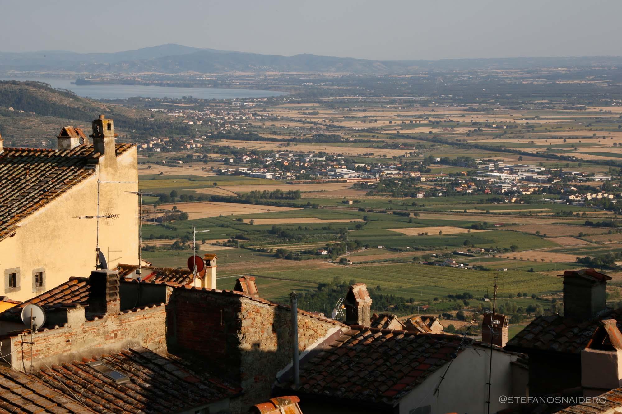 Vista panoramica da Cortona