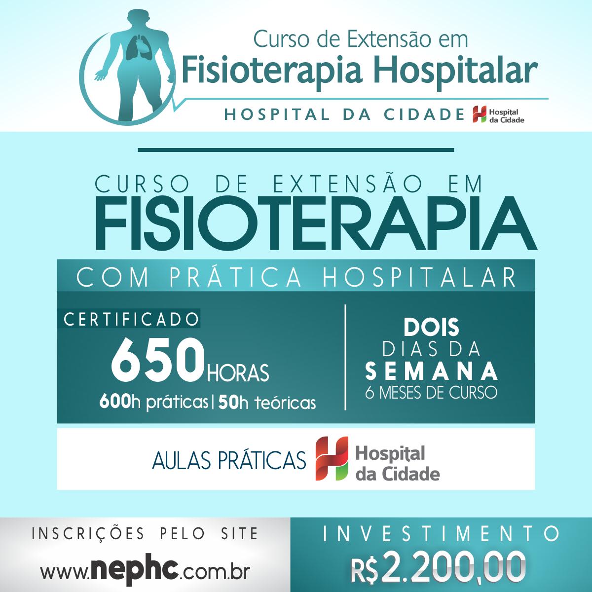 Núcleo de Ensino e Pesquisa - NEP - Hospital da Cidade - HC - Banner digital - CEFH