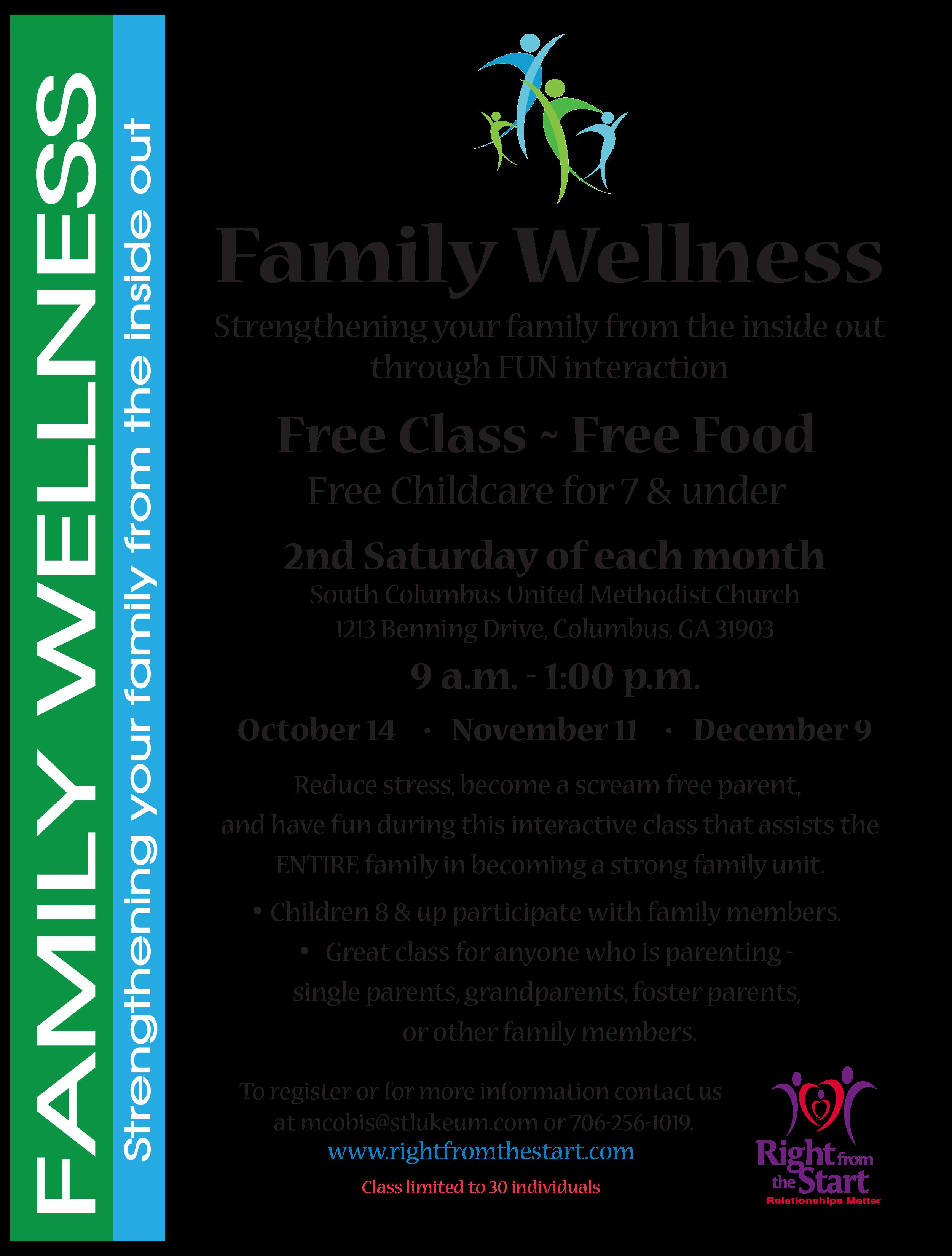Family Wellness Class Flyer