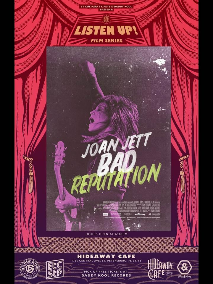 Listen Up Film Series presents Joan Jett : Bad Reputation