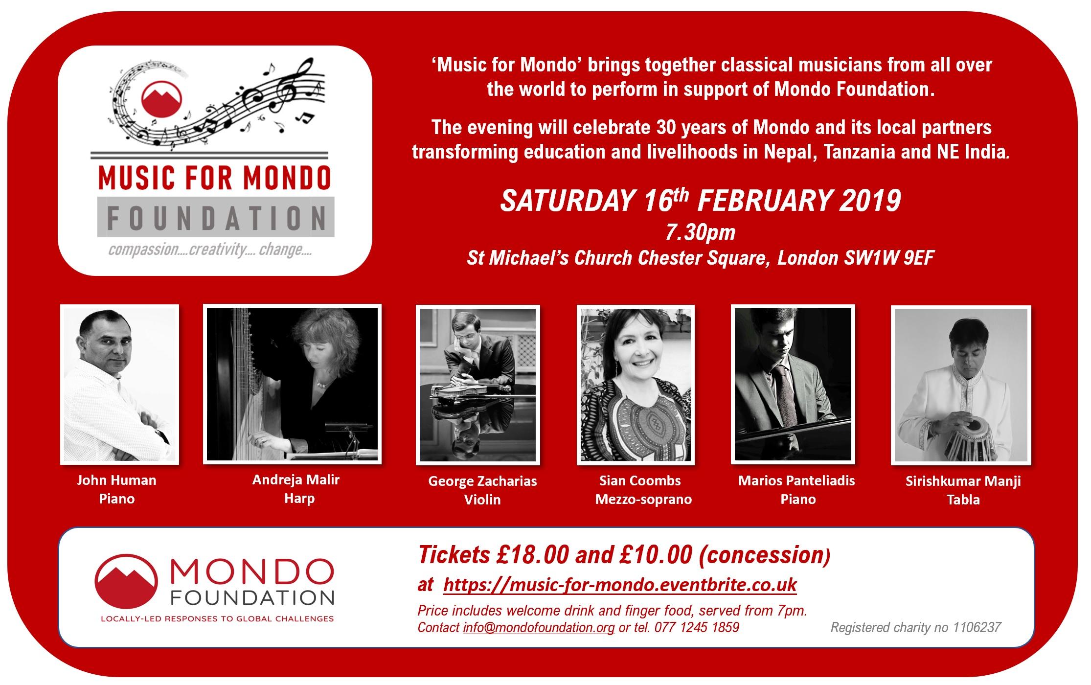 Music for Mondo Flyer