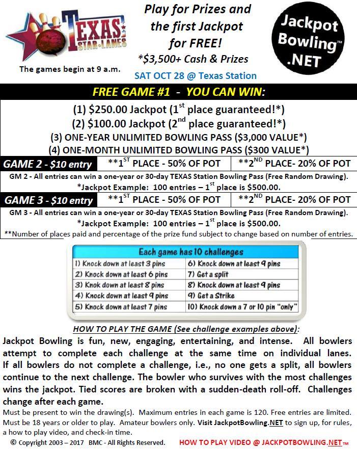 Jackpot Bowling Event