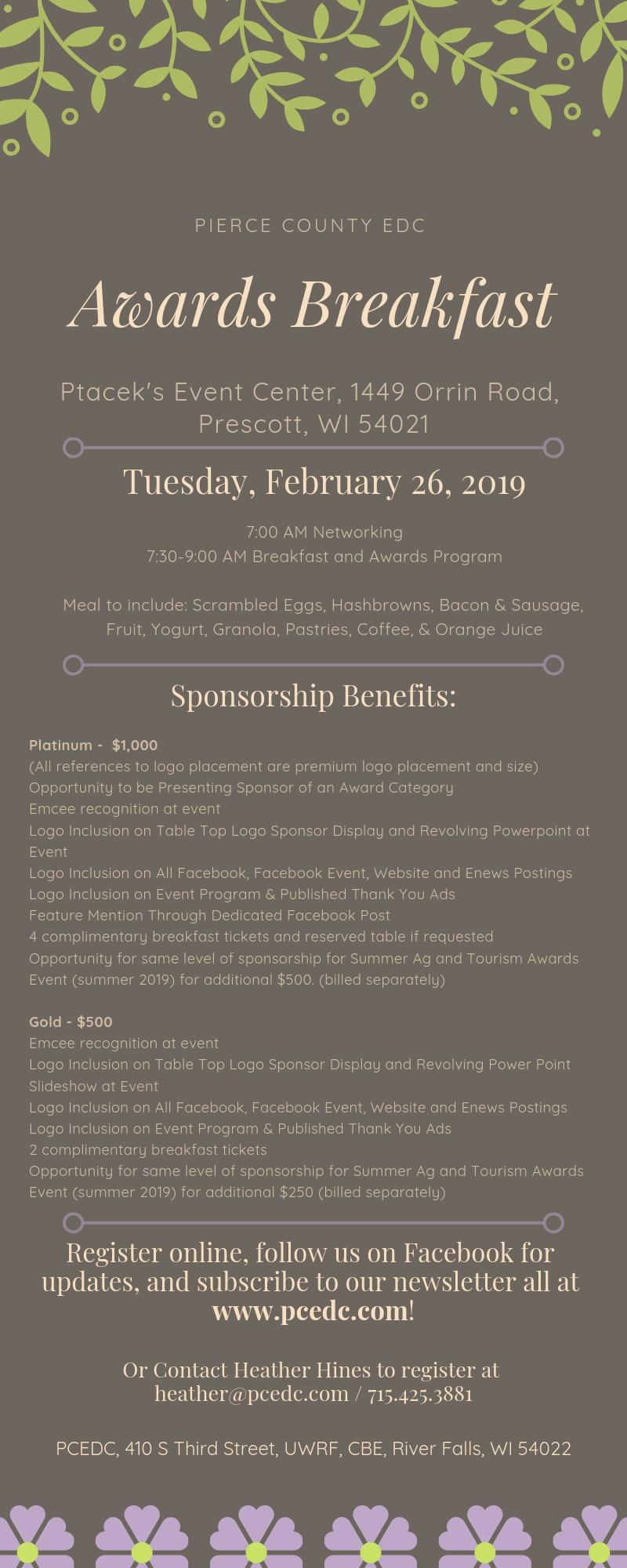 Awards Breakfast Invitation