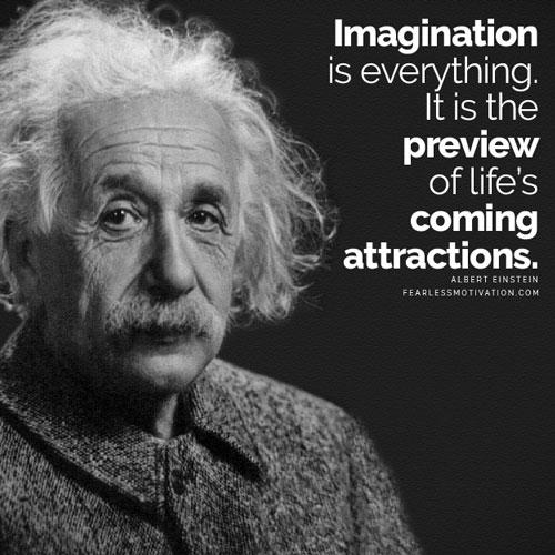 Albert Einstien Imagination quote