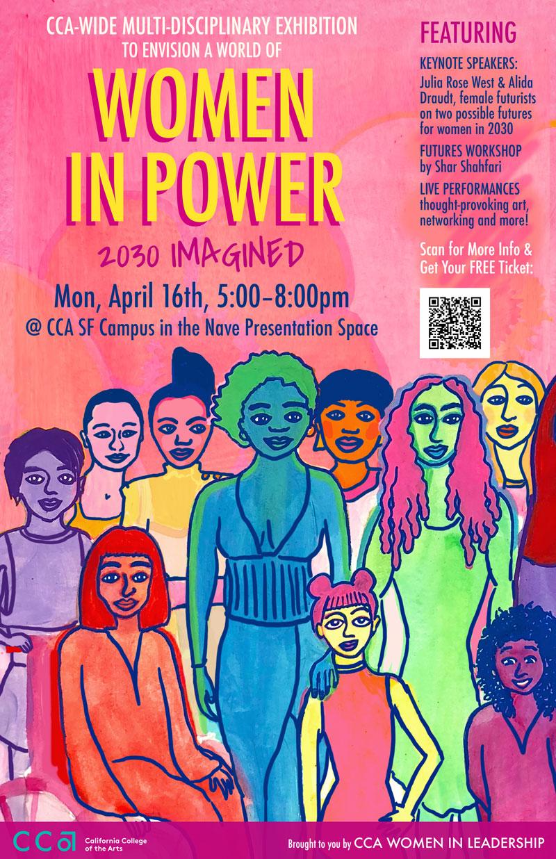 Women in Power, 2030 Imagined poster