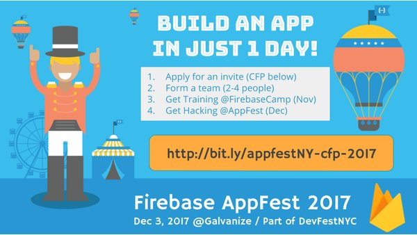 AppFest - Build an app in a day with Firebase!