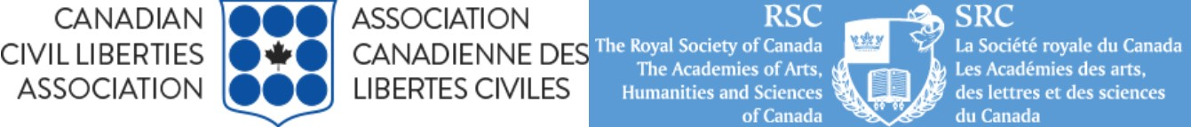 Royal Society of Canada Logo and Canadian Civil Liberties Logo