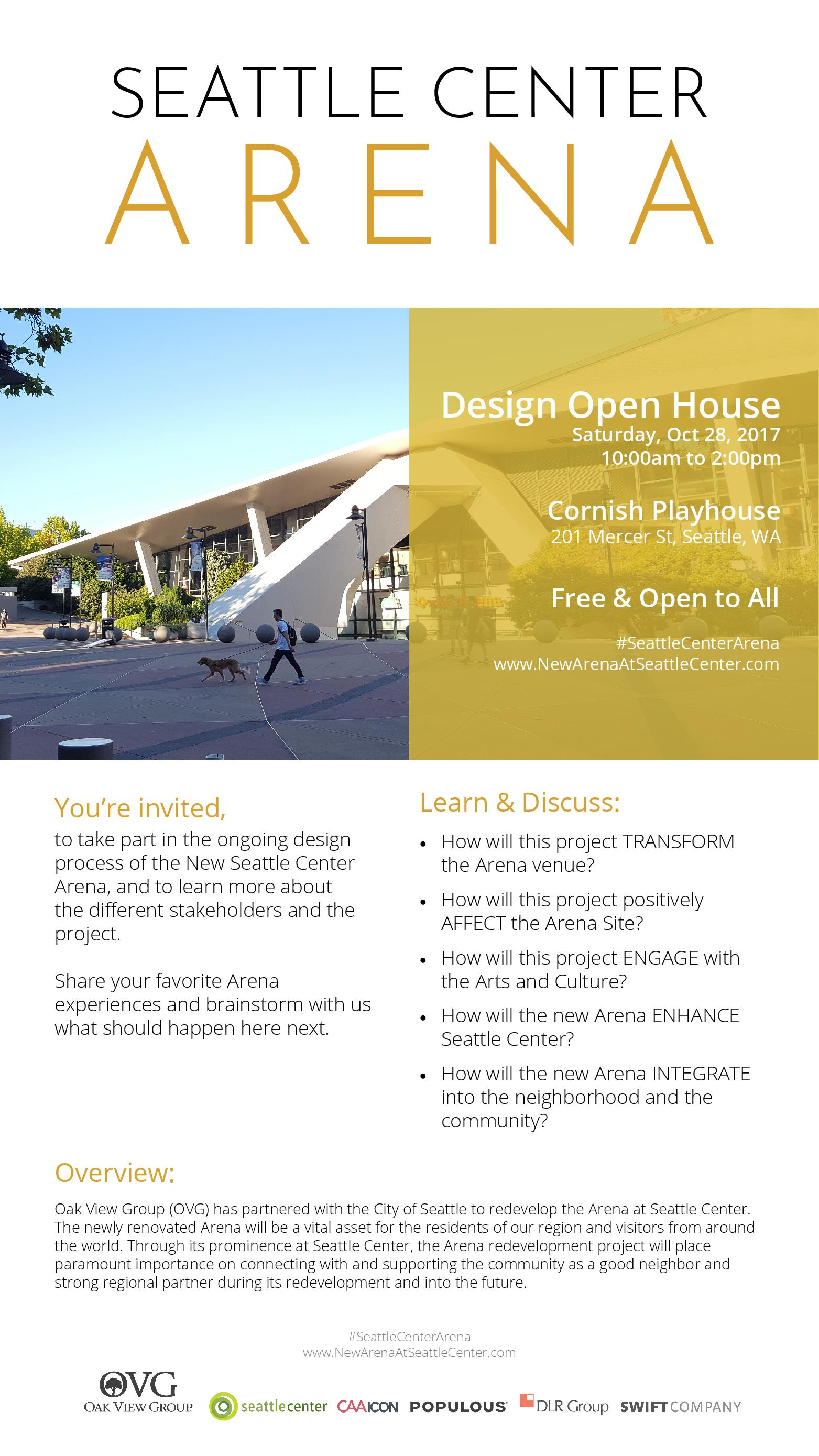 Seattle Center Arena: Design Open House