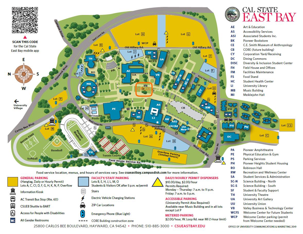 CSUEB Campus Map - CRUX Training Location