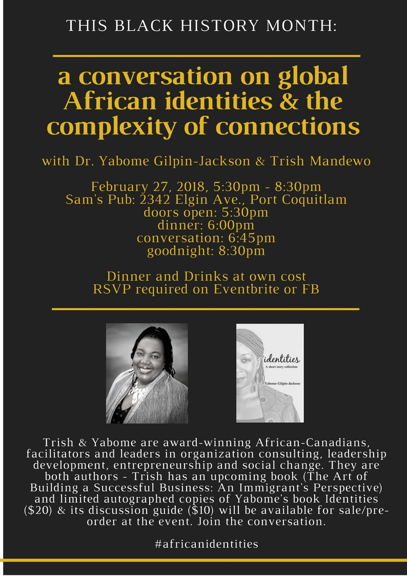 Feb 27-Conversation on global African Identities and Complexity of Connections