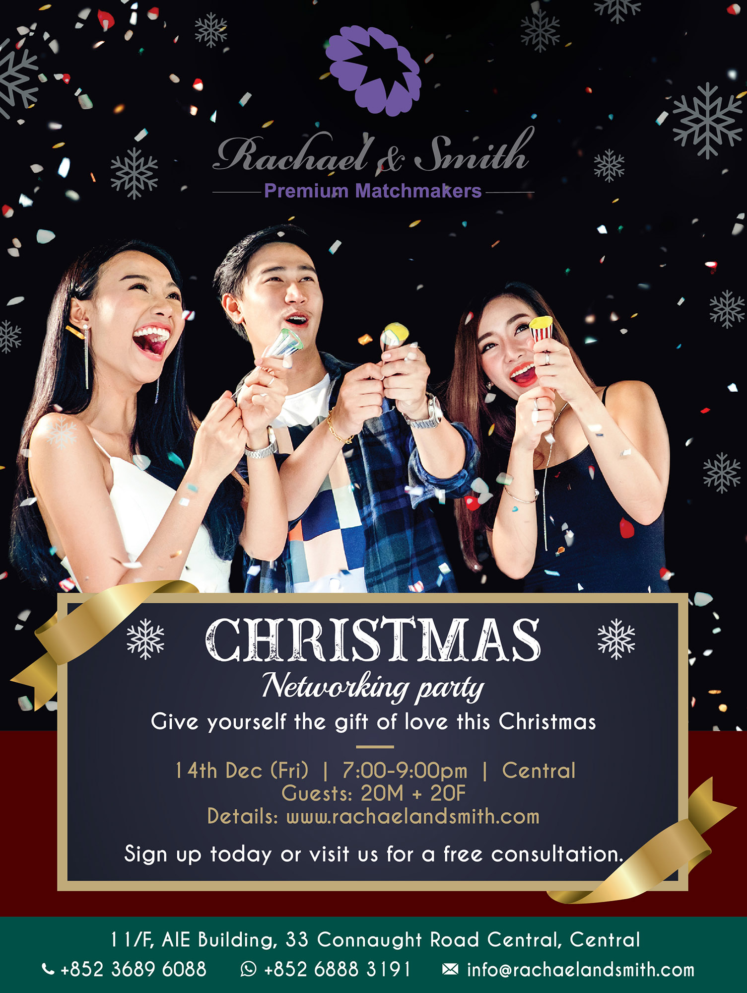 Rachael & Smith, Premium Matchmakers, Networking, Party, Christmas Party