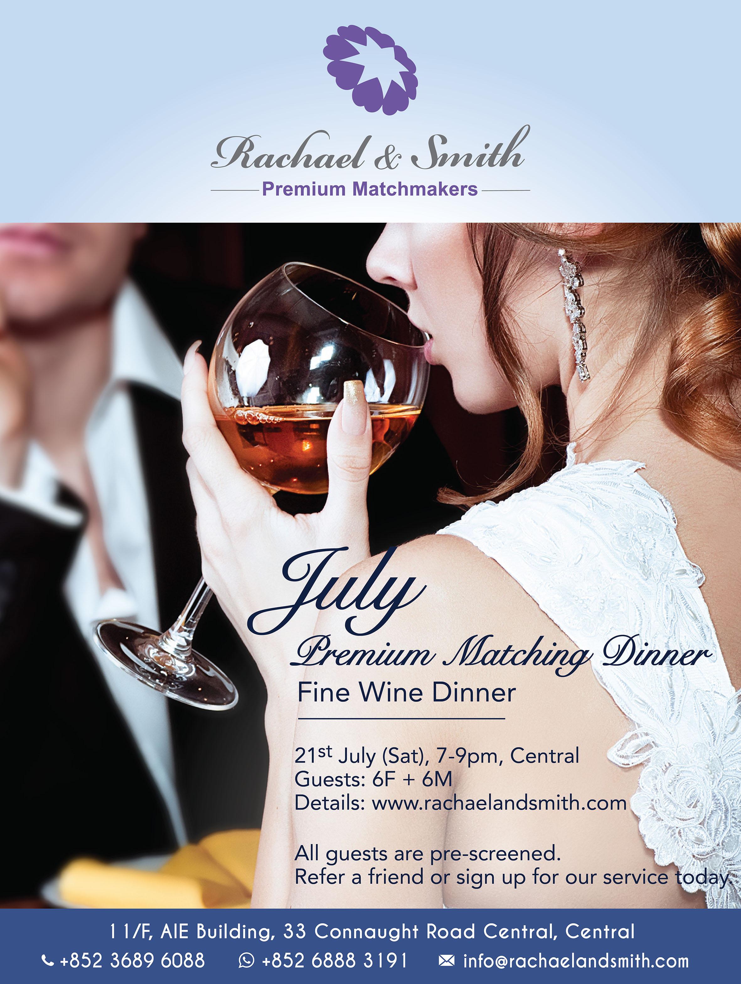 Rachael & Smith, Premium Matchmakers, Premium Dinner