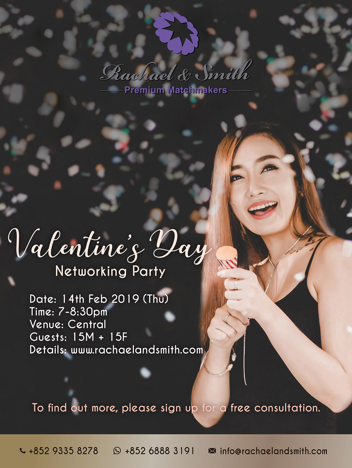 Rachael & Smith, Premium Matchmakers, Networking, Party, Valentine's Day
