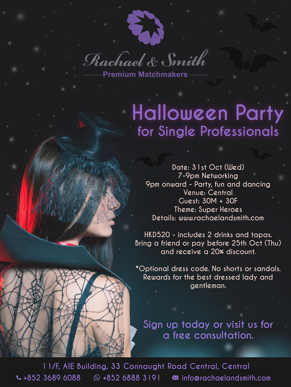 Rachael & Smith, Premium Matchmakers, Networking, Party, Halloween