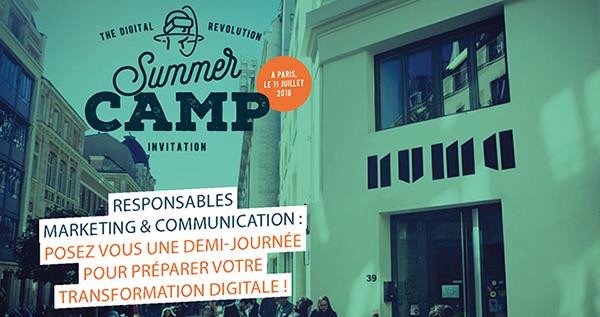 Visuel de présentation du summer camp
