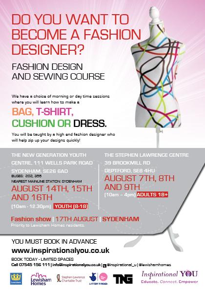 Inspirational You Fashion Design Course August 2013 Lewisham Inspirationalyou Org