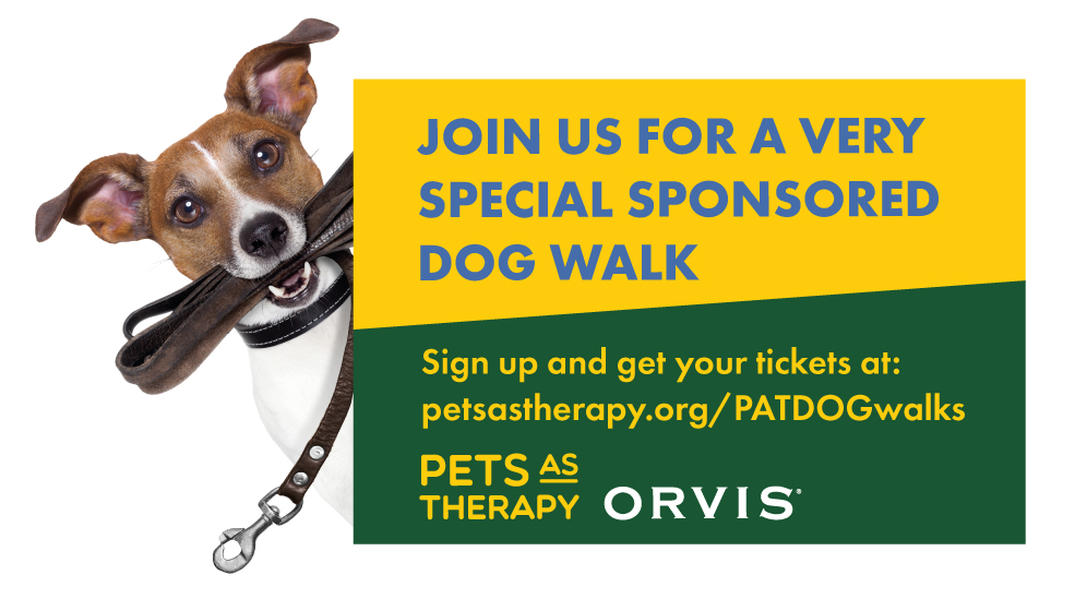 Promotional Point of Sale for PAT & Orvis Dog Walk 2018